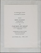 view Program for <em>Chicago by Night: A Ballet in Eight Harmless Insinuations</em> digital asset number 1
