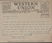 view James Johnson Sweeney telegram to Mrs. Martin Schutze digital asset number 1