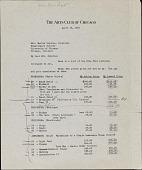 view Arts Club of Chicago letter to Mrs. Martin Schutze digital asset number 1