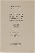 view Catalog for <em>Exhibition of Drawings by Sculptors and Small Sculpture</em> digital asset: cover