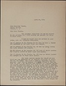 view Renaissance Society at the University of Chicago letter to Beatrice Winser, Newark, New Jersey digital asset number 1