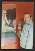 view Alberto Vargas with one of his portraits digital asset number 1