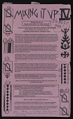 view Flyer for Mixing It Up IV symposium sent by Lucy Lippard to Kathy Vargas digital asset number 1