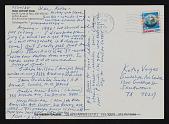 view Lucy Lippard, Boulder, Colorado postcard to Kathy Vargas, San Antonio, Texas digital asset number 1