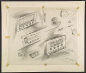 view Concept sketches of radio dials digital asset number 1