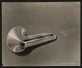view Reproduction of concept sketch for harmonica designed by John Vassos for M. Hohner digital asset number 1