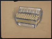 view Concept drawing of an accordion design for M. Hohner digital asset number 1