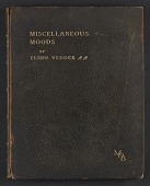 view Miscellaneous moods in verse; one hundred and one poems with illustrations digital asset: cover