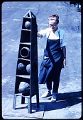 view Ruth Vollmer standing next to one of her unidentified sculptures digital asset number 1
