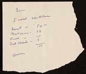 view Gordon Newton note to Samuel J. Wagstaff digital asset number 1