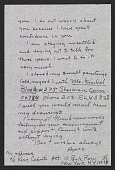 view Agnes Martin letter to Samuel J. Wagstaff digital asset: page 1