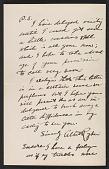 view Fragment of a letter from Albert Pinkham Ryder to Mrs. Olin Levi Warner (Sylvia Martinache Warner) digital asset number 1