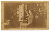 view Olin Warner in his studio digital asset number 1
