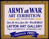view <em> Army at War</em> exhibition announcement digital asset number 1