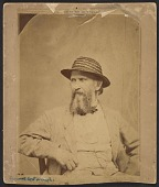 view Samuel Bell Waugh seated and wearing a straw hat digital asset number 1