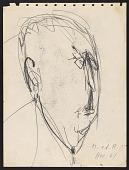 view Sketch of Ludwig Mies van der Rohe digital asset number 1