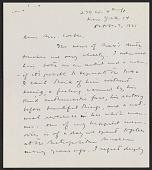 view Meyer Schapiro letter to Mrs. Max Weber digital asset: page