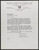 view Lloyd Goodrich letter to Max Weber digital asset number 1