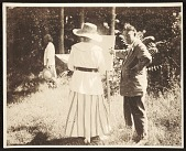 view Edwin Ambrose Webster and a student in a plein-air painting class digital asset number 1