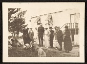 view Edwin Ambrose Webster and others observing a dog and a group of ducks digital asset number 1