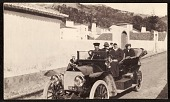 view Edwin Ambrose Webster and Georgianna Webster with others traveling in a car digital asset number 1