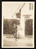 view E. Ambrose Webster in front of his home on 180 Bradford St. digital asset number 1