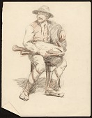 view Sketch of a seated man digital asset number 1