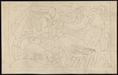 view Stylized drawing of a reclining woman and surrounding foliage digital asset number 1
