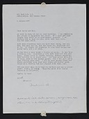 view Frederick Hammersley letter to Tamara Webster digital asset number 1