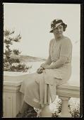 view Katharine Lane Weems seated on a balustrade digital asset number 1