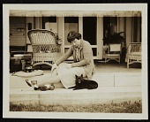 view Katharine Ward Lane Weems seated with a dog digital asset number 1