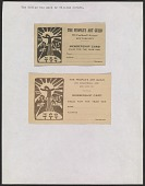 view A page of membership cards for The People's Art Guild digital asset number 1