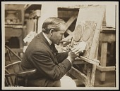 view Adolph Weinman working in his studio digital asset number 1