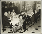 view Adolph Weinman and group of people at dinner digital asset number 1