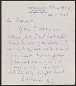 view Robert Burns Motherwell letter to Florence Weinstein digital asset number 1