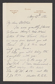 view Frederic Edwin Church letter to John Ferguson Weir digital asset: front