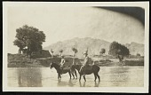 view Harold Weston and Mr. Stead, the American Missionary, at the ford, outside Bagdad, Persia digital asset number 1