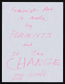 "view Maren Hassinger response to ""What is Feminist Art?"" digital asset number 1"