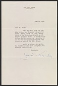 view Jacqueline Kennedy letter to Robert W. White digital asset number 1