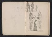 view Gertrude Vanderbilt Whitney sketchbook/diary digital asset: pages 2