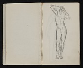view Sketchbook of anatomical drawings digital asset: pages 3