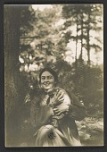 view Mary Thayer holding a monkey digital asset number 1