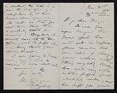 view John Singer Sargent, Chelsea (London, England) letter to Abbott Handerson Thayer digital asset number 1