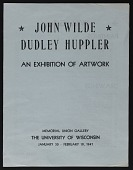 view Catalog for <em>John Wild Dudley Hupper: An Exhibition of Artwork</em> digital asset: cover