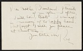 view Note from Robert Strong Woodward to his mother digital asset number 1