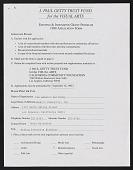 view J. Paul Getty Trust Fund Application digital asset: J. Paul Getty Trust Fund Application