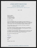 view J. Paul Getty Trust Fund Application and Contract Agreement digital asset: J. Paul Getty Trust Fund Application and Contract Agreement