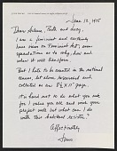 view June Claire Wayne, Los Angeles, Calif. letter to Arlene Ranen, Ruth Iskin and Lucy Lippard digital asset number 1
