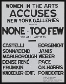 view Women in the arts accuses New York galleries exhibiting none or too few women artists digital asset number 1