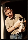 view Paul Wonner with cat at front door Jersey St., San Francisco digital asset number 1
